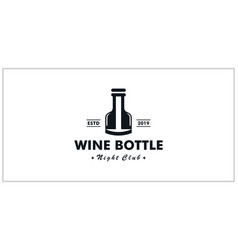 wine bottle symbol inspiring logo design vector image