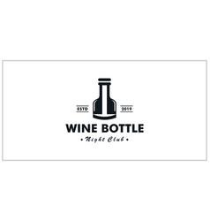 wine bottle symbol inspiring logo design vector image