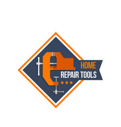 Work tools of home repair construction icon vector