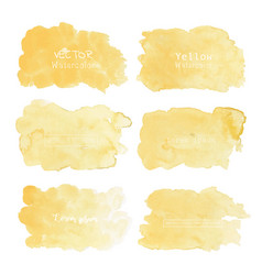 yellow watercolor background pastel watercolor vector image
