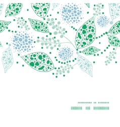 abstract blue and green leaves horizontal frame vector image vector image