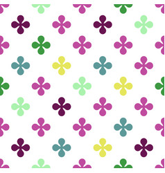 abstract colourful background with flowers vector image