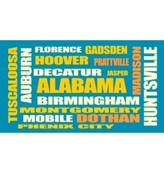alabama state cities list vector image