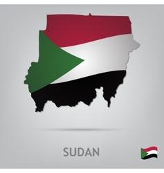 country sudan vector image vector image