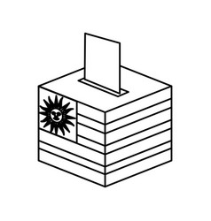 election day uruguay urn vector image vector image