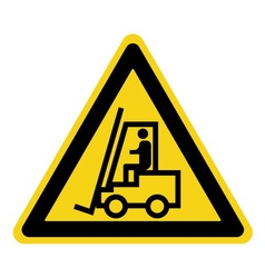 Forklift truck sign vector image