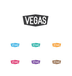 of game symbol on vegas icon vector image