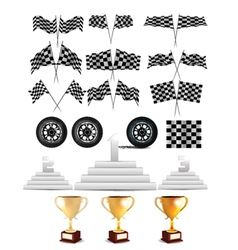 racing design elements vector image vector image