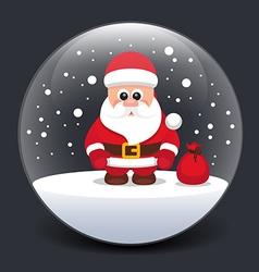 SantaClausSnowGlassBoxBlack vector image
