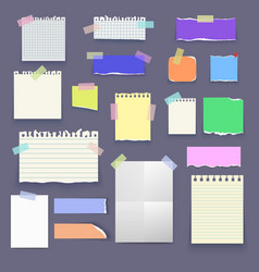 Set of paper poster mockup notes banners vector