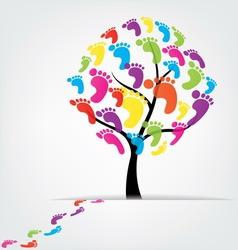 tree foot paw print vector image