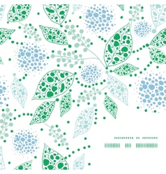 abstract blue and green leaves frame corner vector image vector image