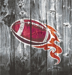 american football black woodboard vector image