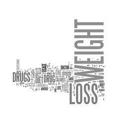 be safe while you lose weight with weight loss vector image