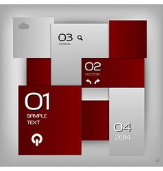 business squares template red with text vector image