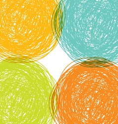 colorful hand drawn background vector image