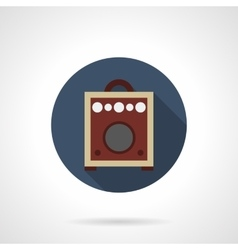 Combo amp round flat color icon vector image vector image
