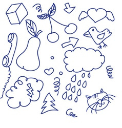 doodle pack vector image