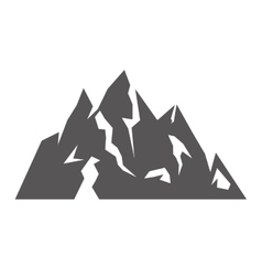 Ice Mountain isolated icon vector image vector image