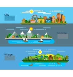 landscape and environment vector image