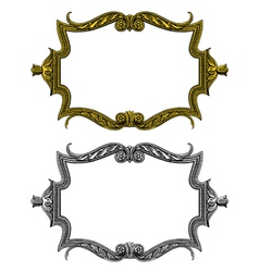 vintage frame in engraved style vector image