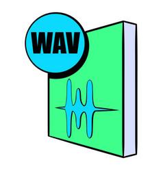 wav file icon cartoon vector image vector image