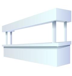 Bar counter blank vector image vector image