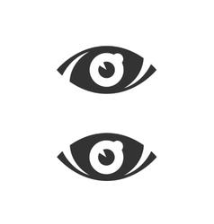 Eye icon isolated on white background vector image vector image