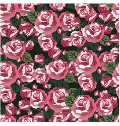 Florals of seamless pattern background vector image