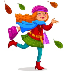 happy autumn vector image vector image