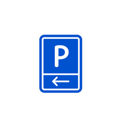 parking zone to left roadsign isolated vector image vector image