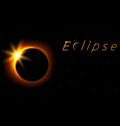 solar eclipse card with text astronomical vector image