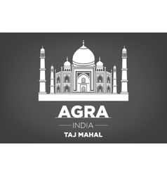 Stencil of the Taj Mahal on a gray background vector image vector image