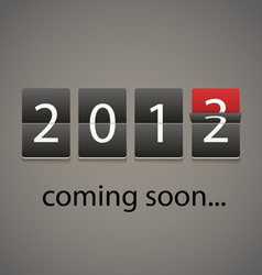 2013 coming soon Paper board vector image