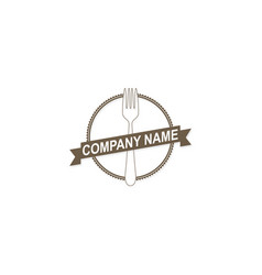 food fork company logo vector image vector image