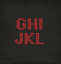LED Display Scoreboard Dot Grunge Font from G to L vector image vector image