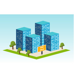 real estate building constraction company vector image