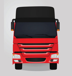 red truck front view vector image vector image