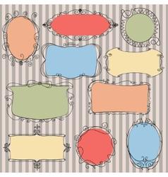 Set doodle frames vector image vector image