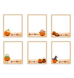 Set of Photos with Halloween Evil and Item vector image vector image