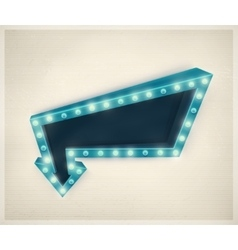 3D Retro Arrow vector image