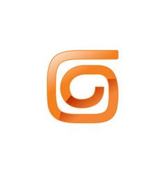 abstract spiral form letter g shape symbol design vector image