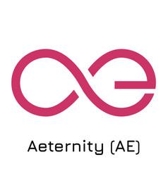 Aeternity ae crypto coin i vector
