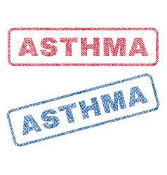 Asthma textile stamps vector