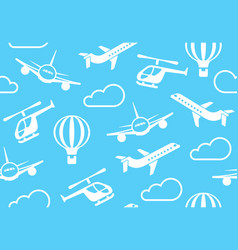 background of air transport vector image