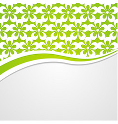Background with a green floral header vector