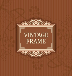 Background with a pattern vintage style with frame vector image