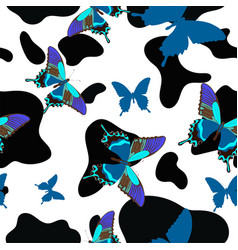 Black and white cowhide combined with blue vector