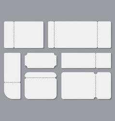 Blank tickets white theater and cinema ticket vector