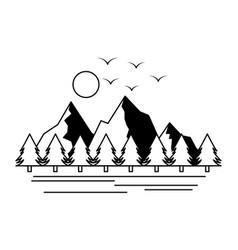 camping wanderlust scene image vector image